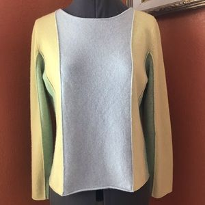 One Girl Who Cashmere Colorblock Sweater